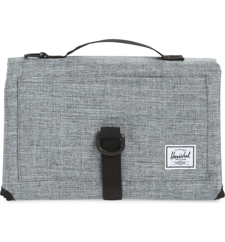 HERSCHEL SUPPLY CO. Sprout Change Mat, Main, color, RAVEN CROSSHATCH