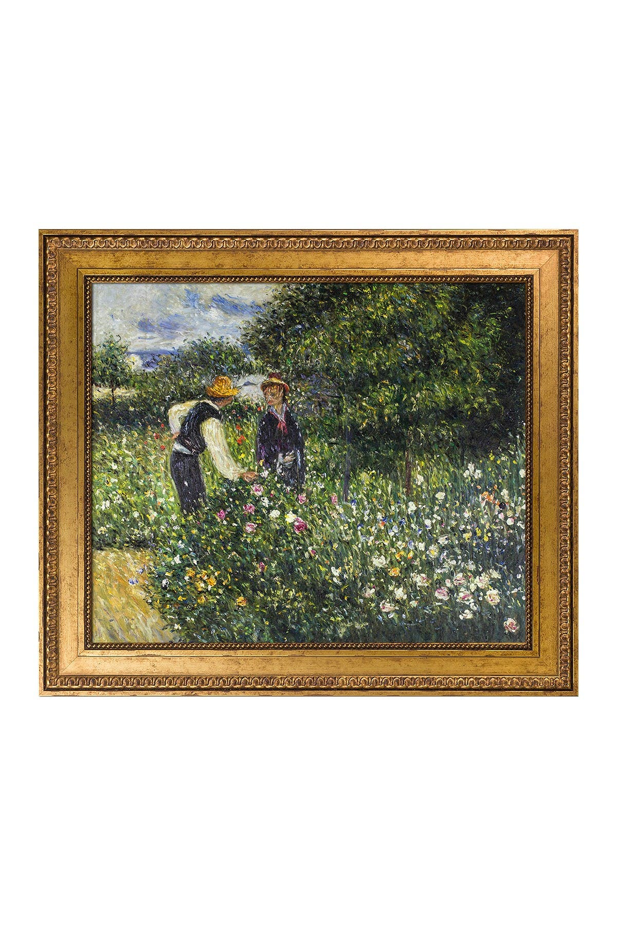 Image of Overstock Art Picking Flowers, 1875 - Framed Oil Reproduction of an Original Painting By Pierre-Auguste Renoir