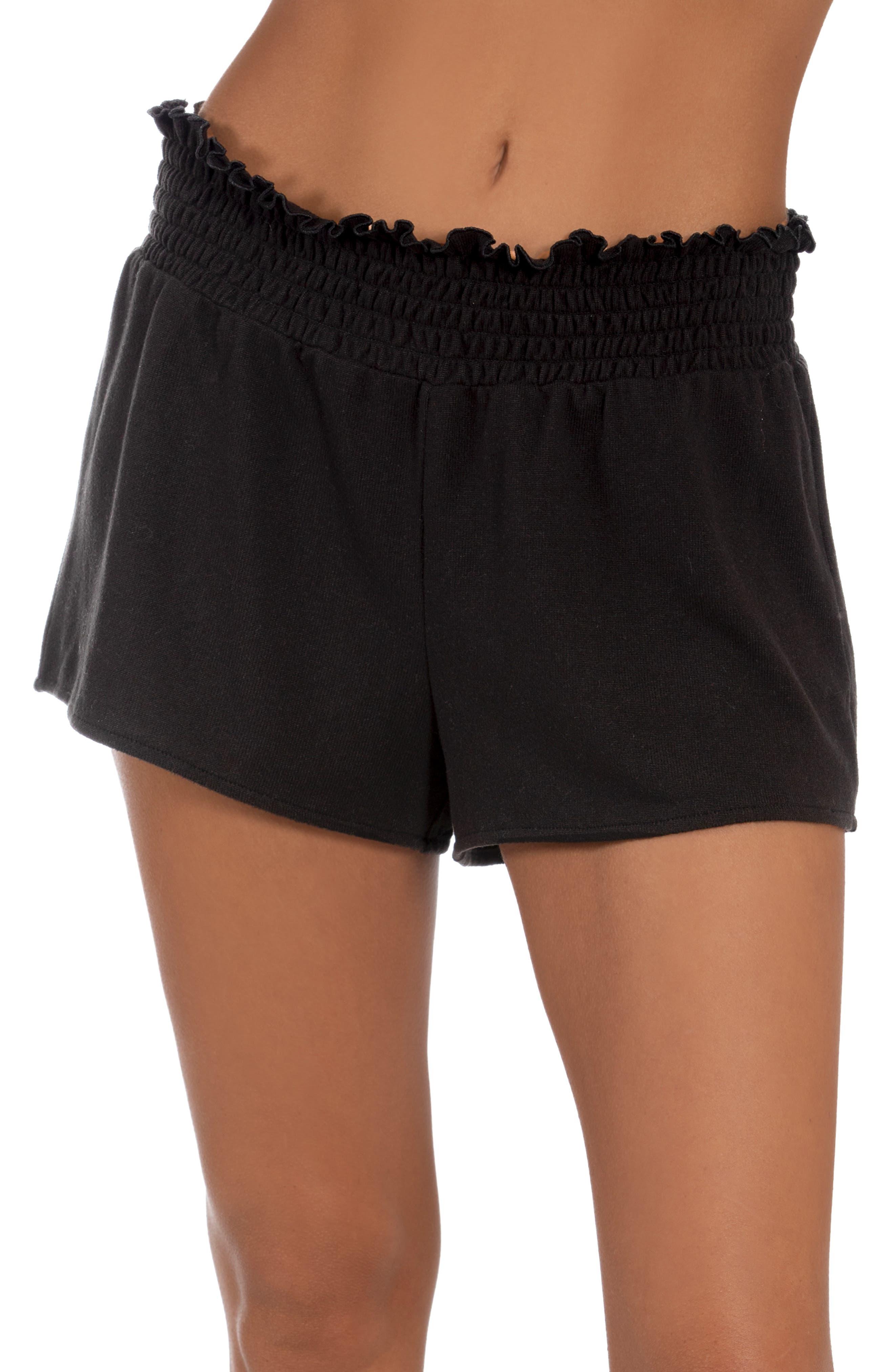 Smocked Hacci Pajama Shorts