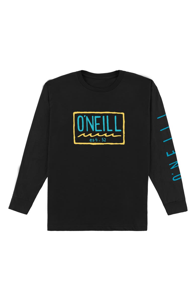 O'NEILL Clash Logo Graphic Long Sleeve T-Shirt, Main, color, BLACK
