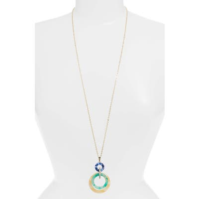 Lele Sadoughi Banded Hoop Pendant Necklace (Nordstrom Exclusive)