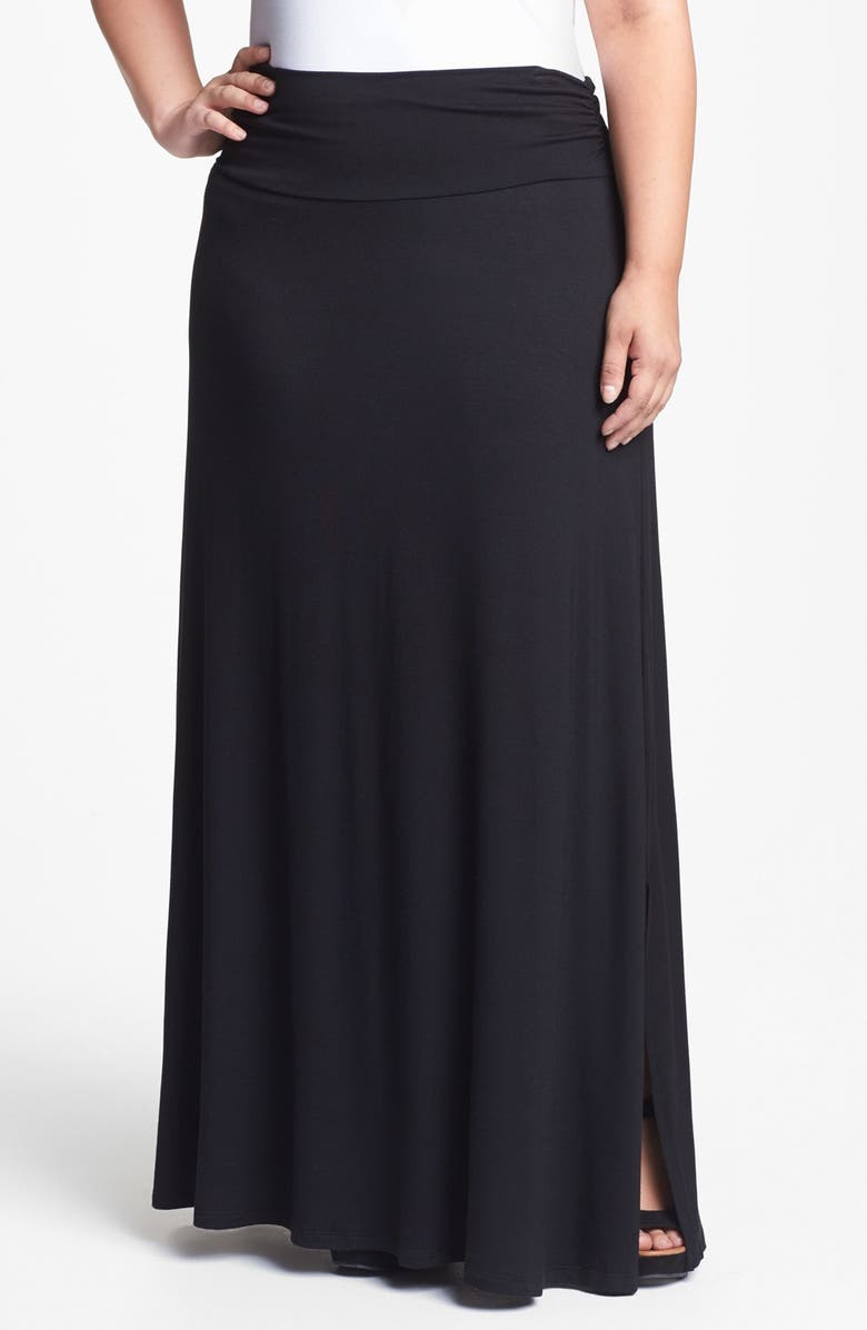 BOBEAU Knit Maxi Skirt, Main, color, 001