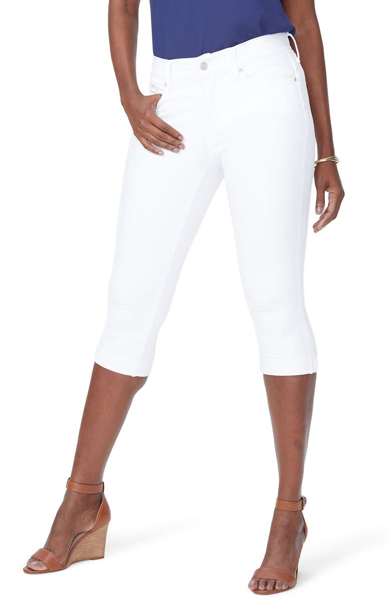 NYDJ Marilyn Crop Jeans, Main, color, OPTIC WHITE