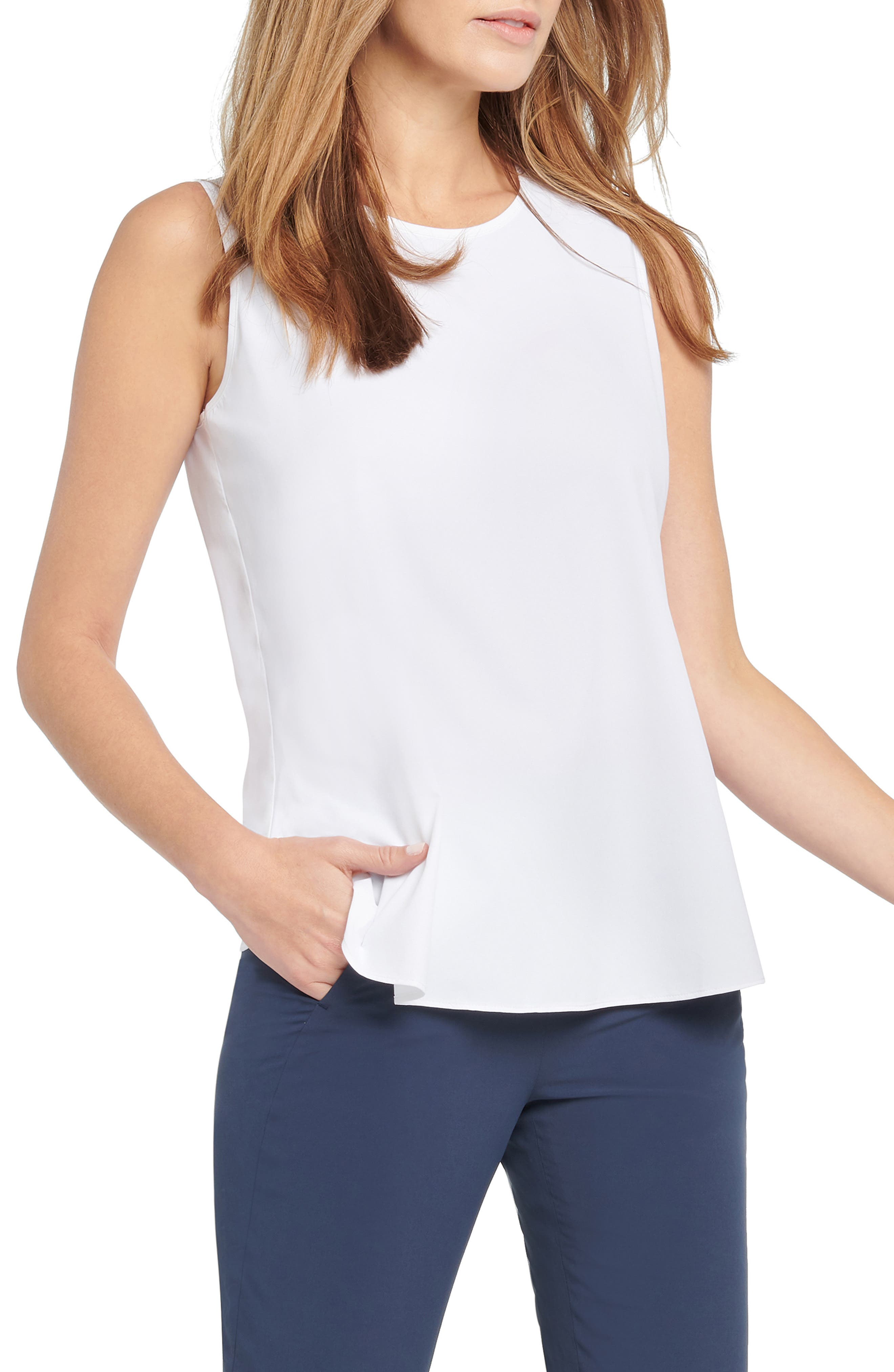 Moisture-wicking four-way-stretch fabric adds everyday comfort to this smooth, lightweight and versatile tank. Style Name: Nic+Zoe Tech Stretch Tank. Style Number: 6098645. Available in stores.