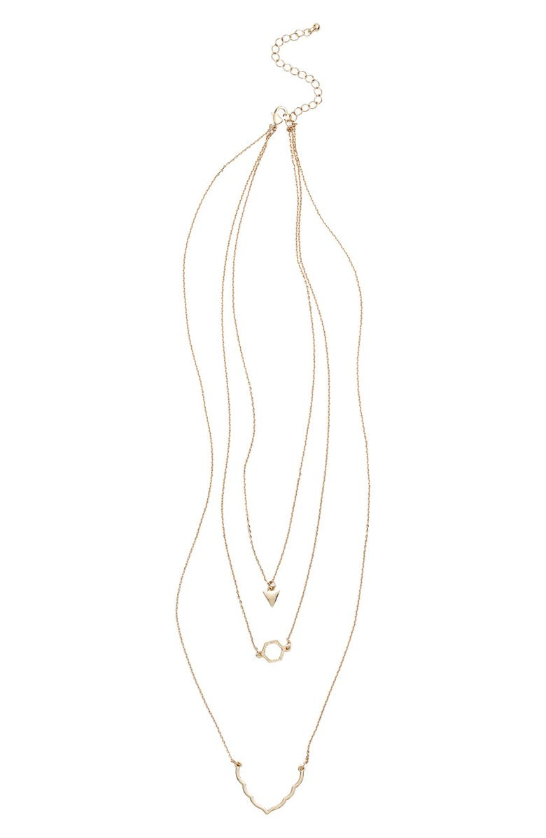 BP. Layered Charm Pendant Necklace, Main, color, 710