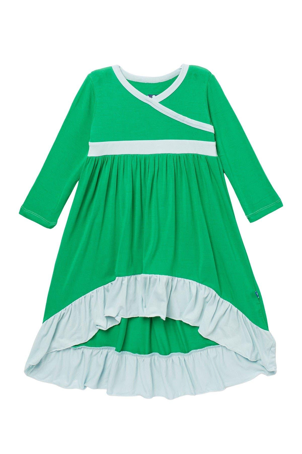 Image of KicKee Pants High/Low Contrast Trim Dress