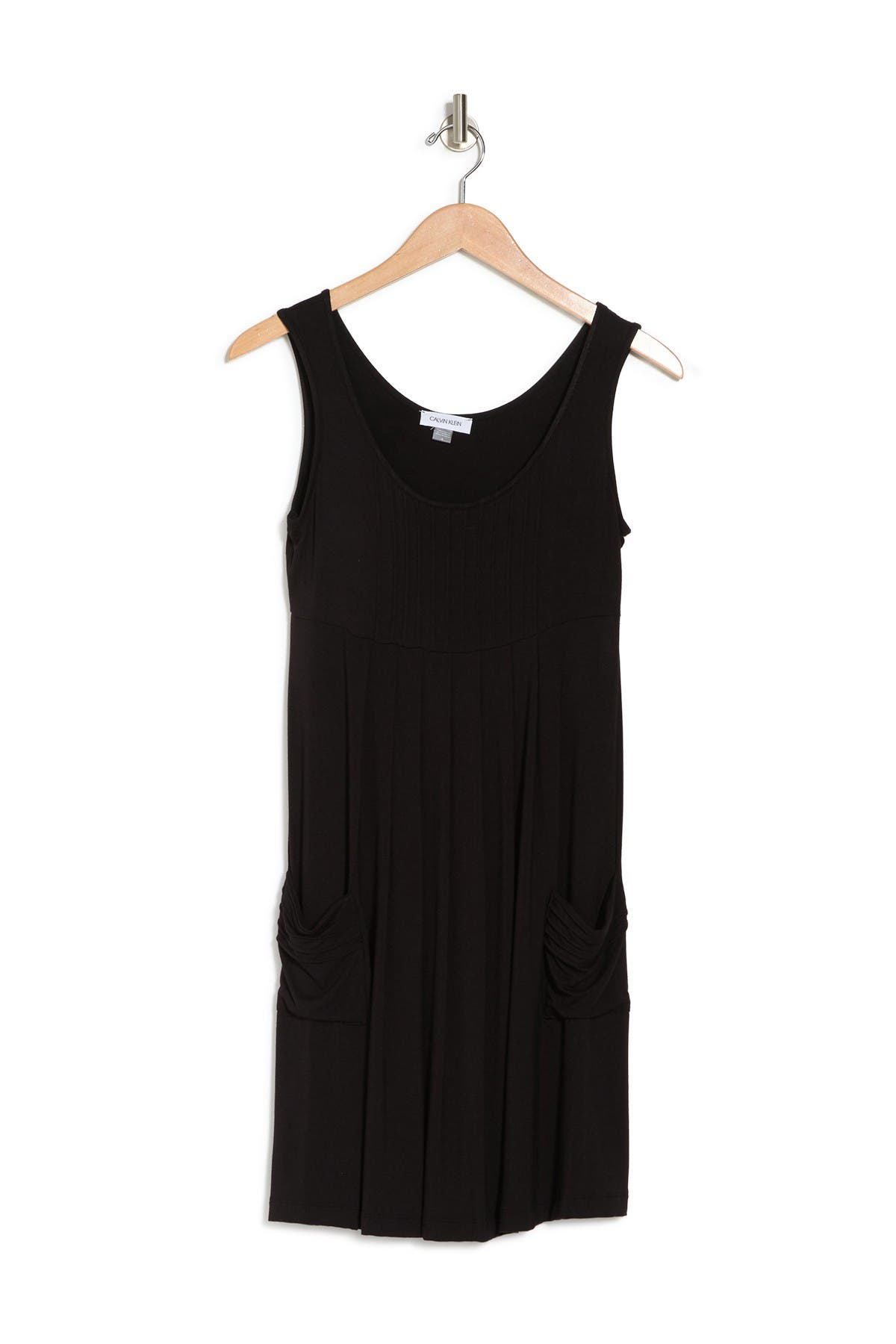 Image of Calvin Klein Pleated Trapeze Tank Dress
