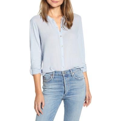 Lucky Brand Double Gauze Shirt, Blue
