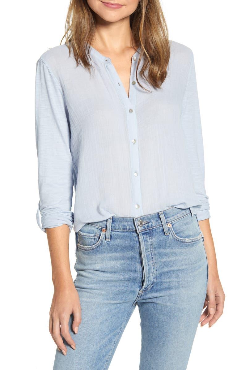 LUCKY BRAND Double Gauze Shirt, Main, color, 455