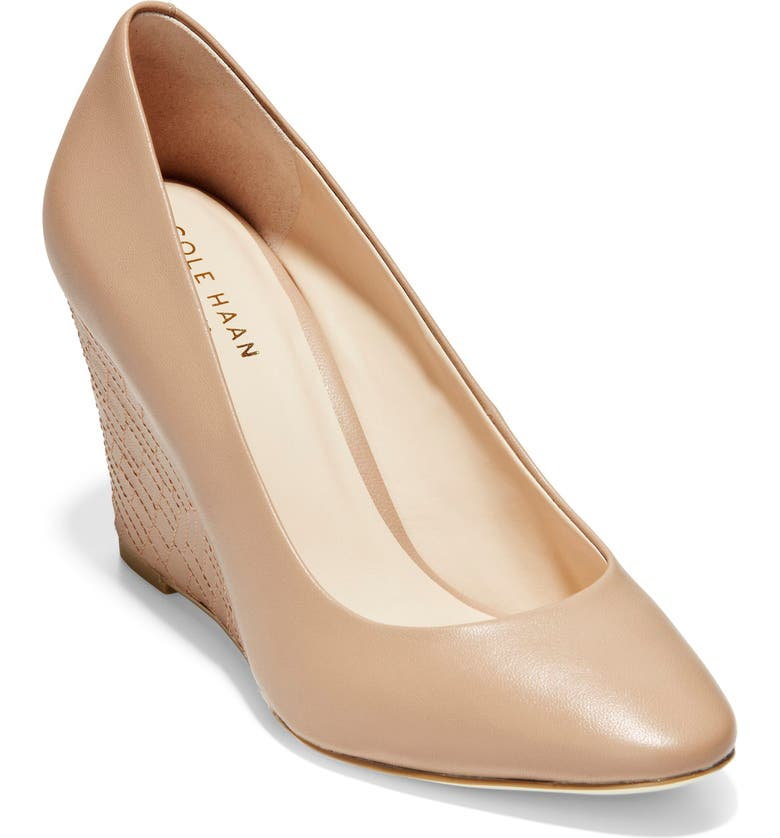 COLE HAAN Marit Wedge Pump, Main, color, MAPLE SUGAR LEATHER