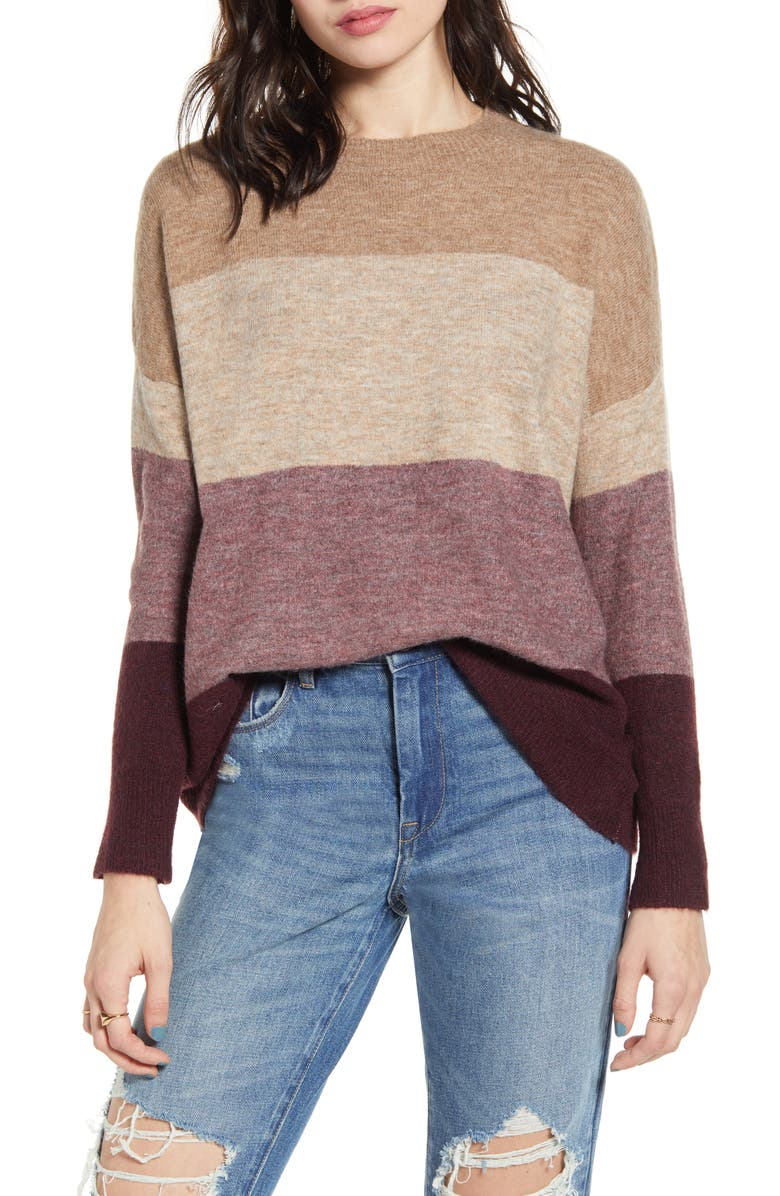 DREAMERS BY DEBUT Colorblock Sweater, Main, color, 200