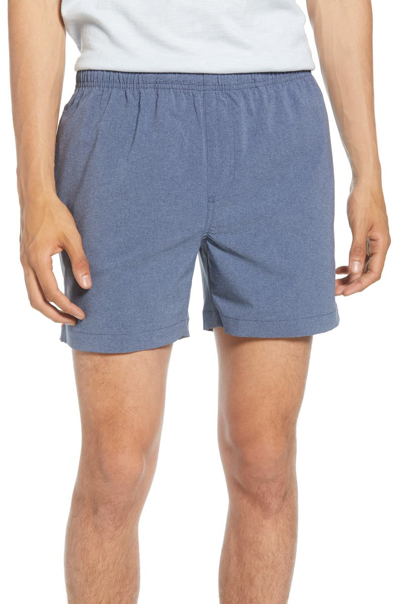 CHUBBIES The Amphibious Water Resistant Hybrid Shorts, Main, color, HEATHER BLUE