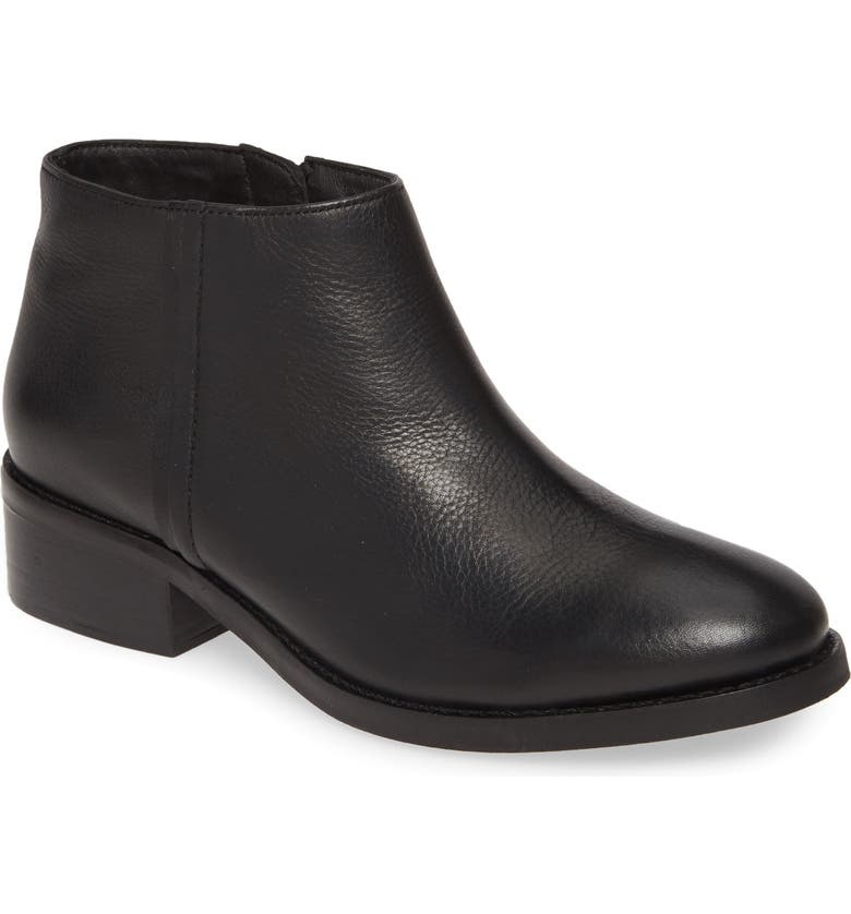 SEYCHELLES Resemblance Bootie, Main, color, BLACK LEATHER