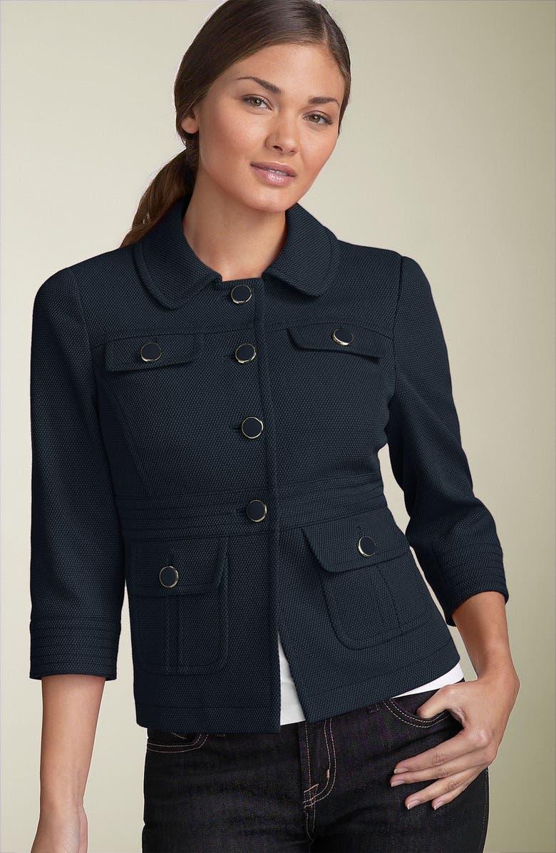 HALOGEN<SUP>®</SUP> Basketweave Jacket, Main, color, 400