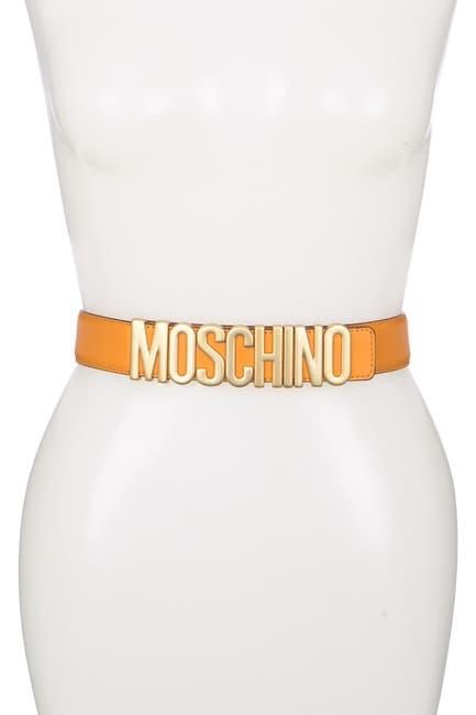 Image of MOSCHINO Logo Buckle Belt