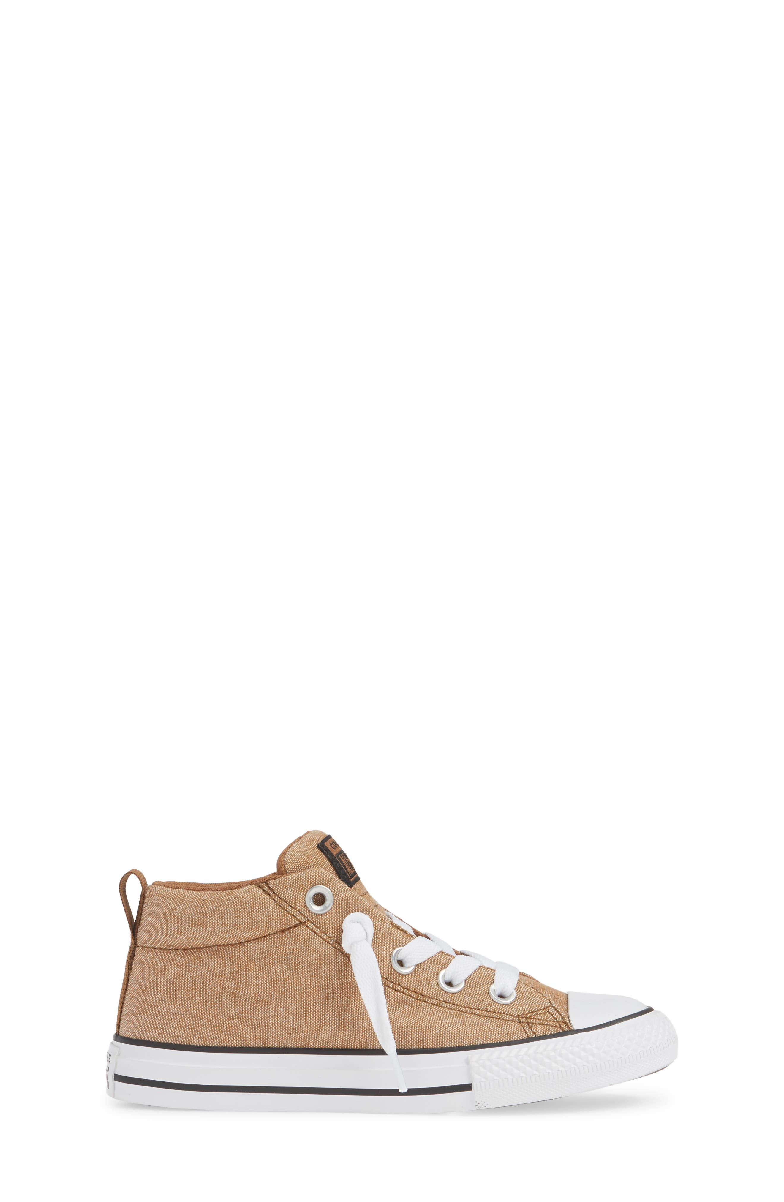 ,                             Chuck Taylor<sup>®</sup> All Star<sup>®</sup> Street Mid Top Sneaker,                             Alternate thumbnail 3, color,                             ALE BROWN/ BLACK/ WHITE