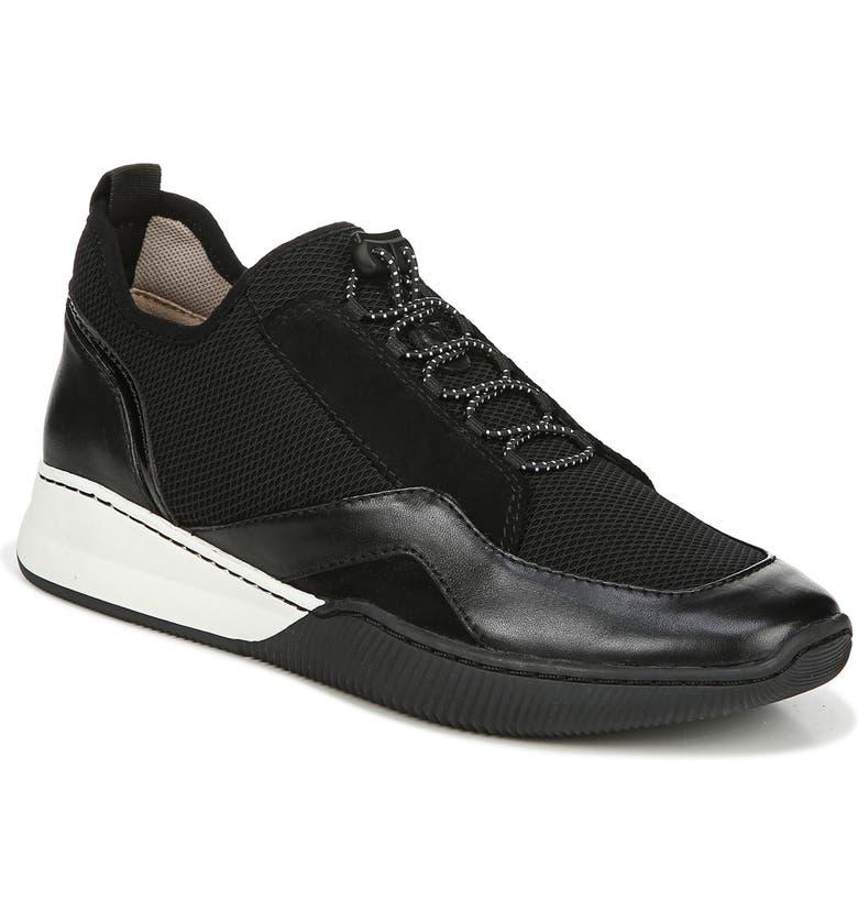NATURALIZER Unison Sock Platform Sneaker, Main, color, BLACK LEATHER