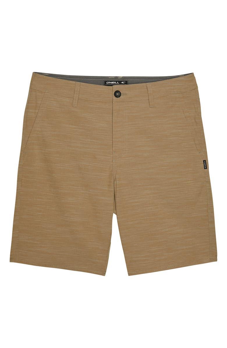 O'NEILL Locked Slub Hybrid Shorts, Main, color, KHAKI