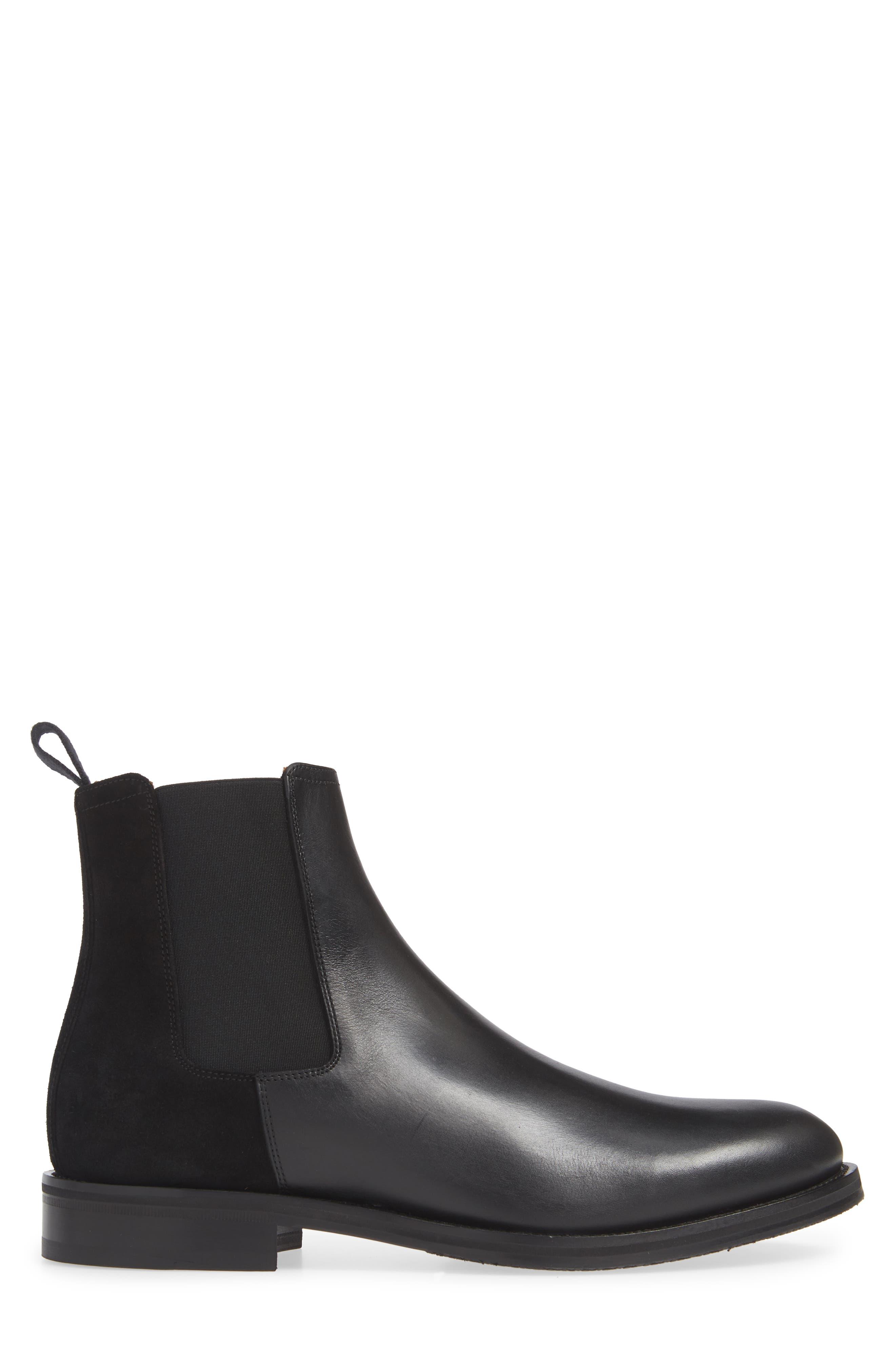 ,                             Giancarlo Weatherproof Chelsea Boot,                             Alternate thumbnail 3, color,                             BLACK