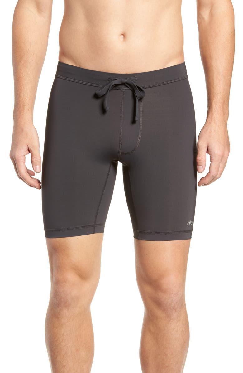ALO Warrior Compression Shorts, Main, color, GRAPHITE