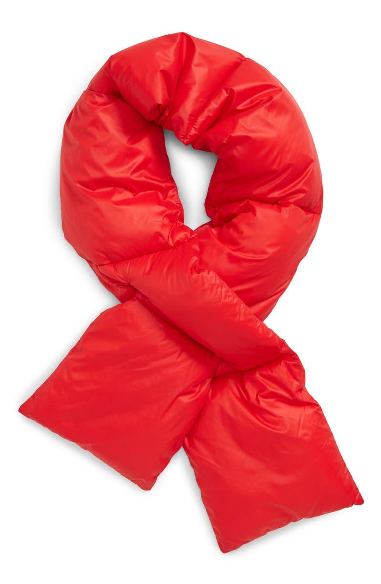 NORDSTROM MEN'S SHOP Puffer Scarf, Main, color, RED SCARLET