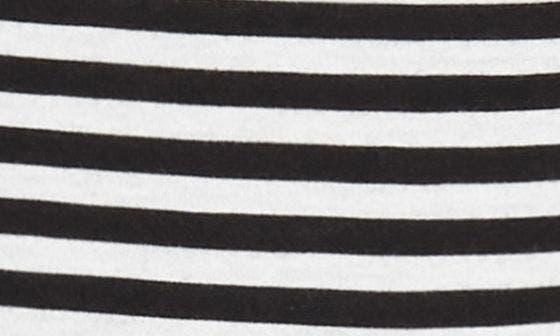 IVORY- BLACK STRIPE