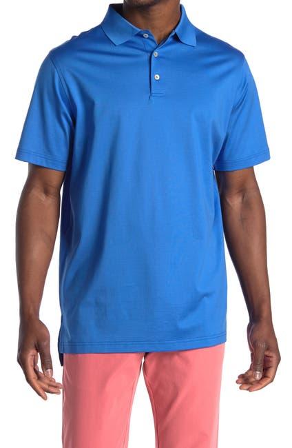 Image of Peter Millar Solid Cotton Polo Shirt