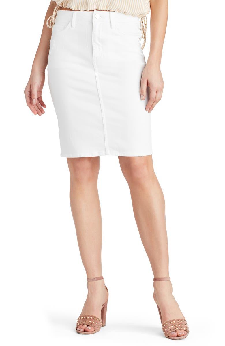 SAM EDELMAN Riley Denim Pencil Skirt, Main, color, 100