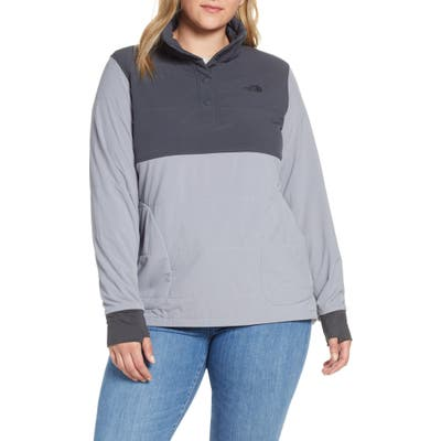 The North Face Mountain Insulated Snap Pullover Jacket, Grey