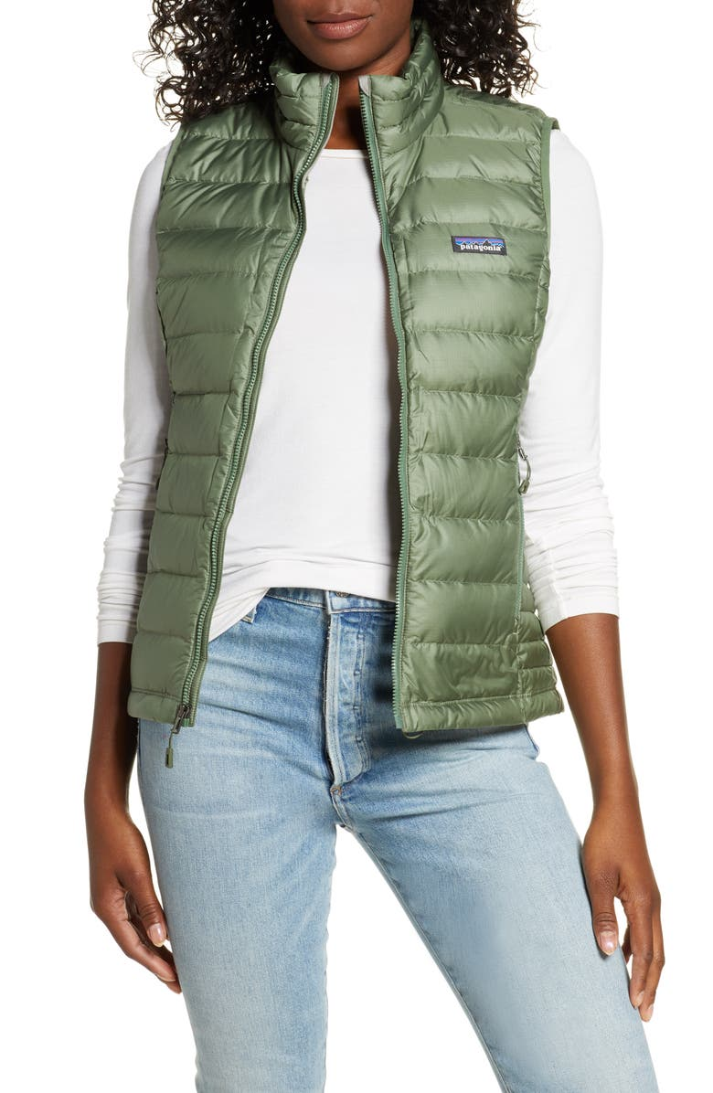 PATAGONIA Down Vest, Main, color, CMPG CAMP GREEN