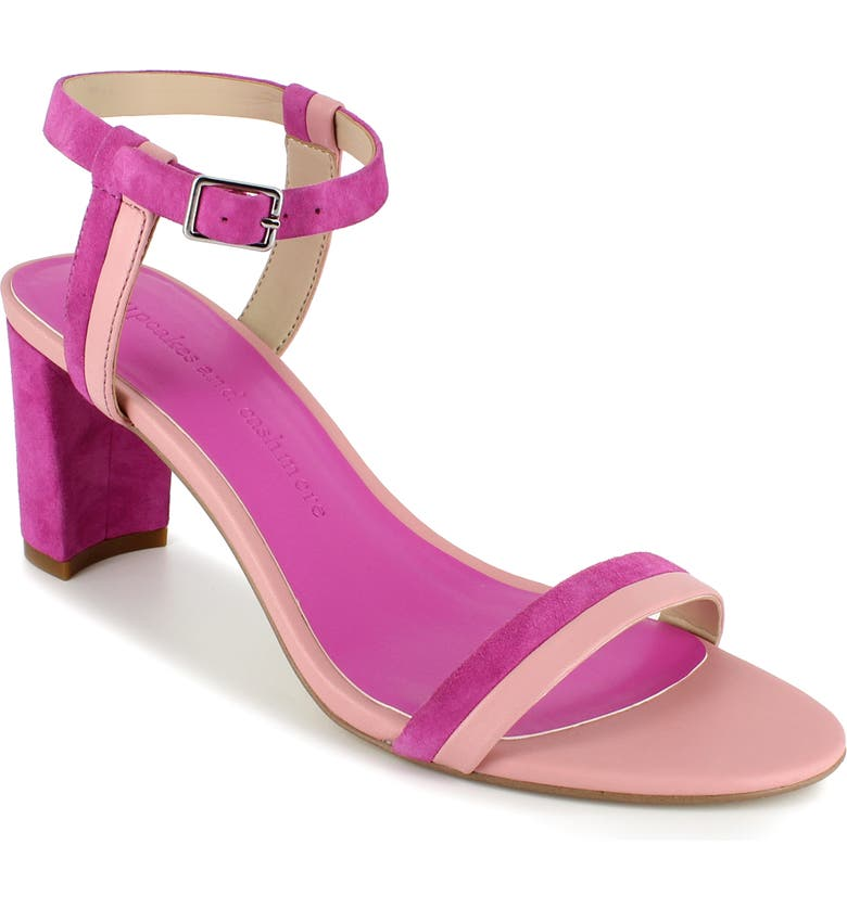CUPCAKES AND CASHMERE Marini Sandal, Main, color, BLUSH/ PUNCH LEATHER
