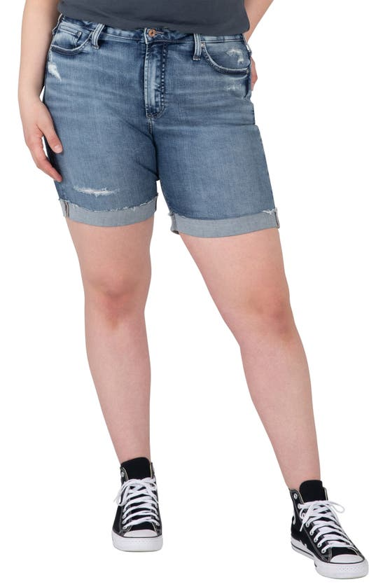 Silver Jeans Co. SURE THING HIGH WAIST CUFFED SHORTS