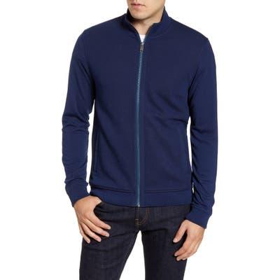 Ted Baker London Multy Slim Fit Fleece Jacket, Blue
