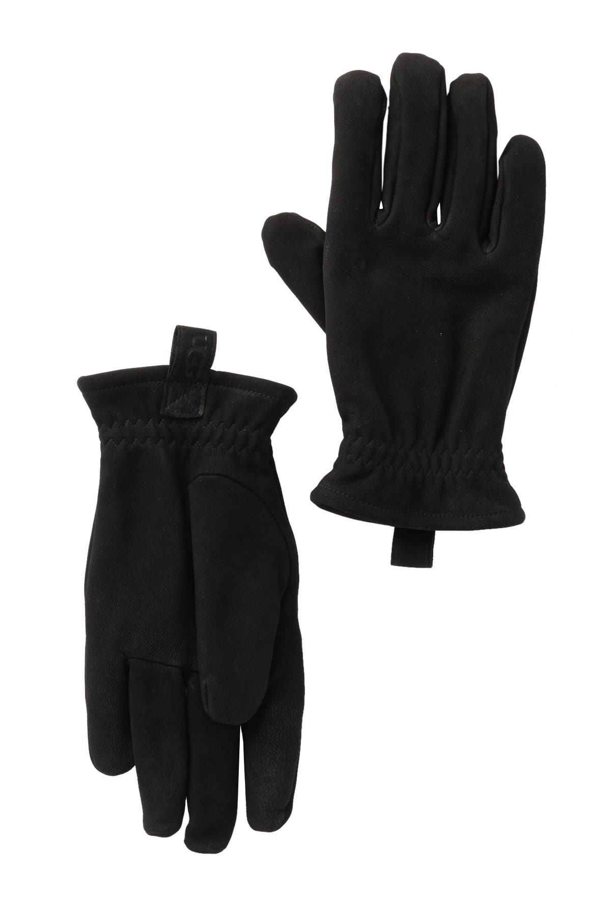 Image of UGG Suede Faux Fur Lined Gloves