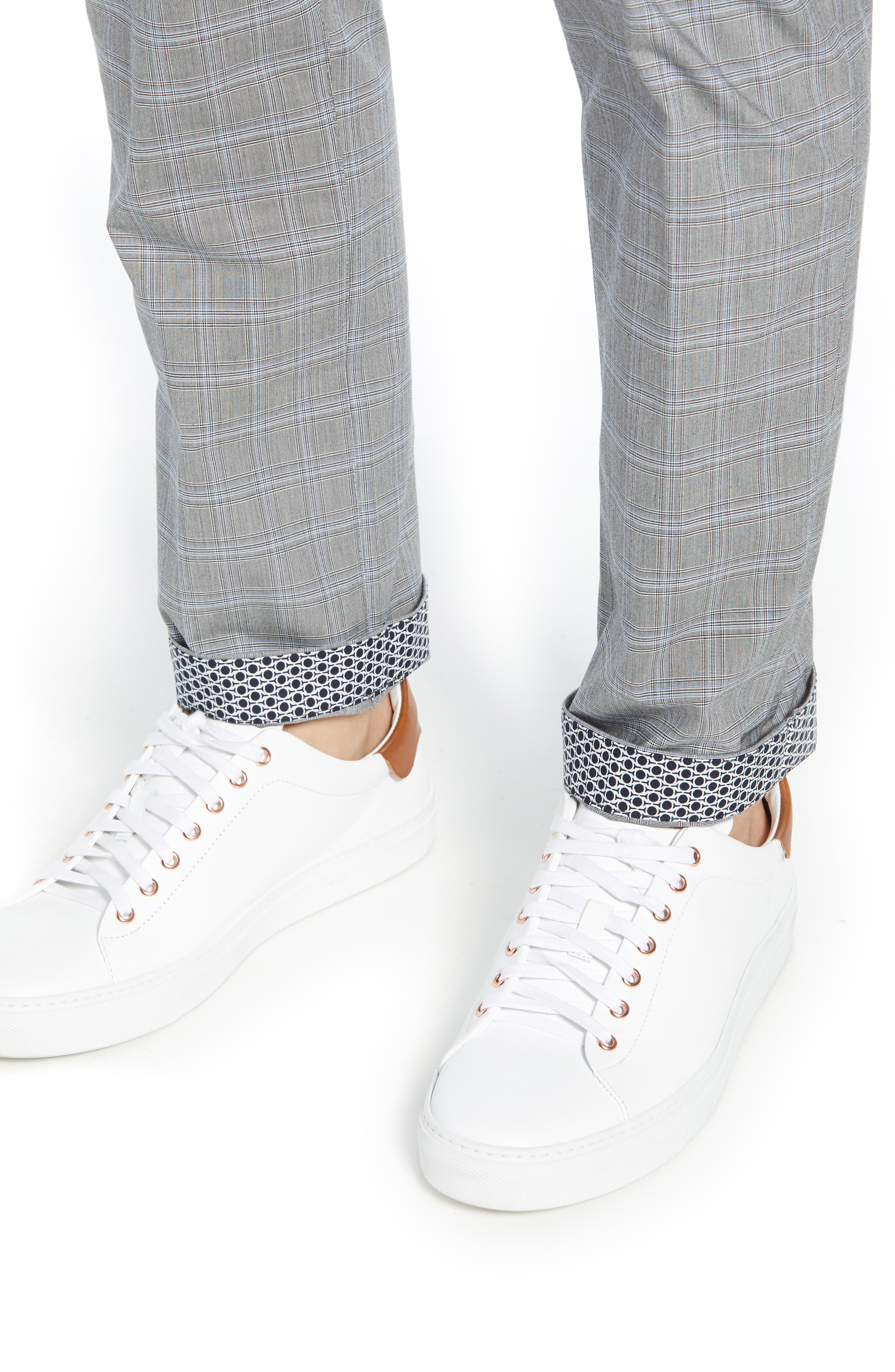 ,                             Snoopd Slim Fit Check Golf Pants,                             Alternate thumbnail 5, color,                             GREY