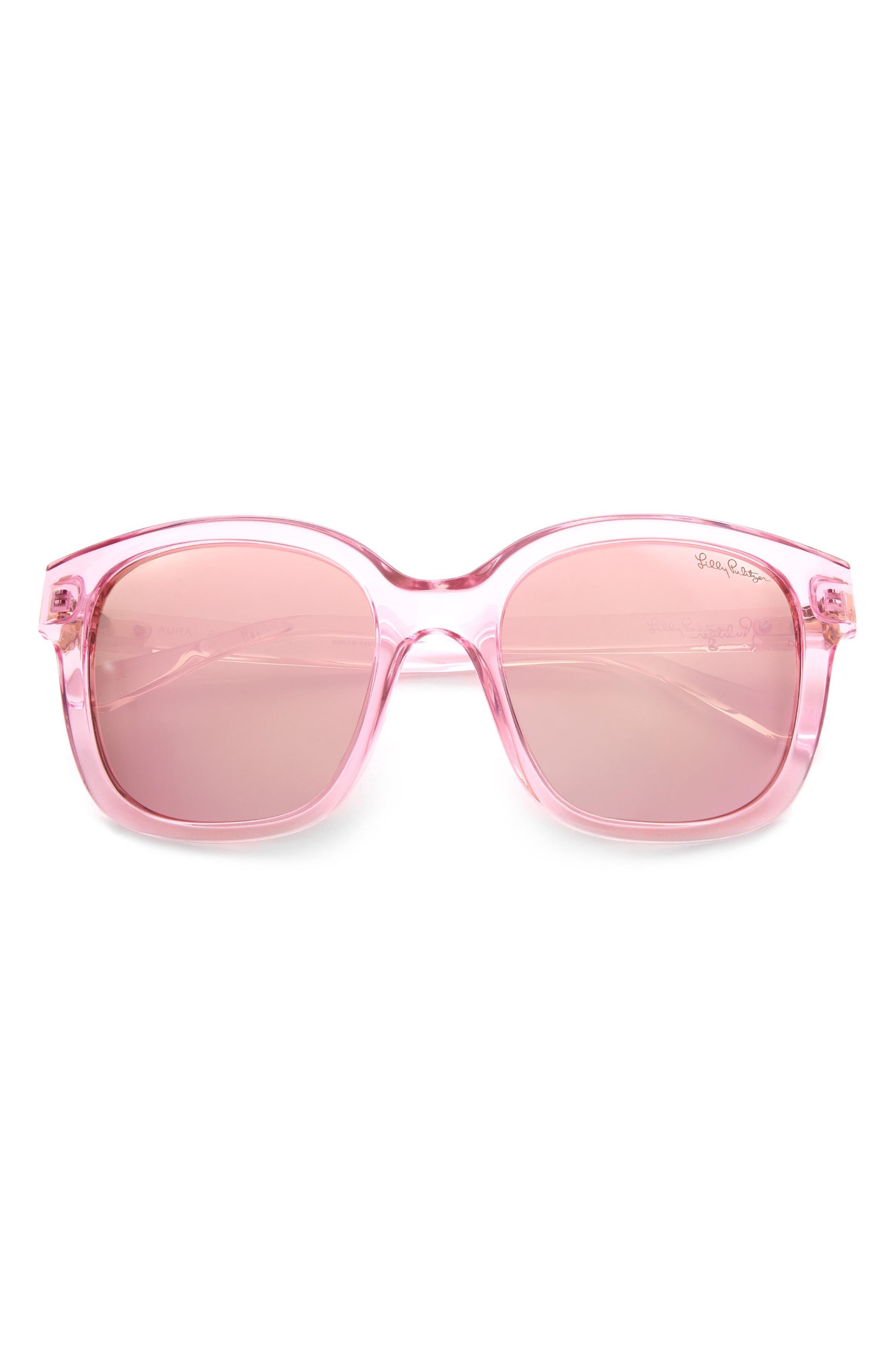 Women's Lilly Pulitzer 53mm Polarized Square Sunglasses
