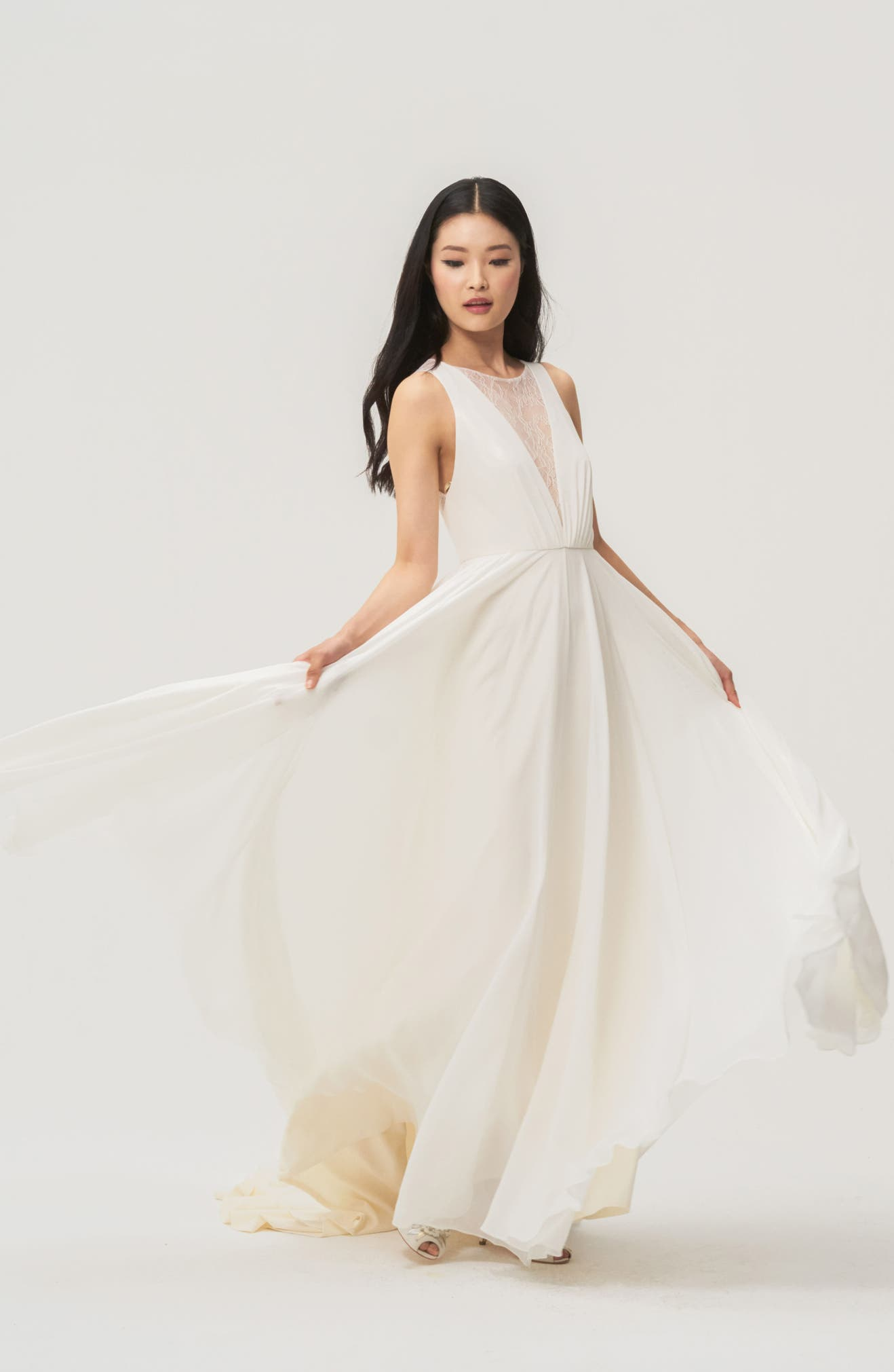 32aa4bef8b Jenny by Jenny Yoo Fallon Lace & Chiffon A-Line Gown   Nordstrom