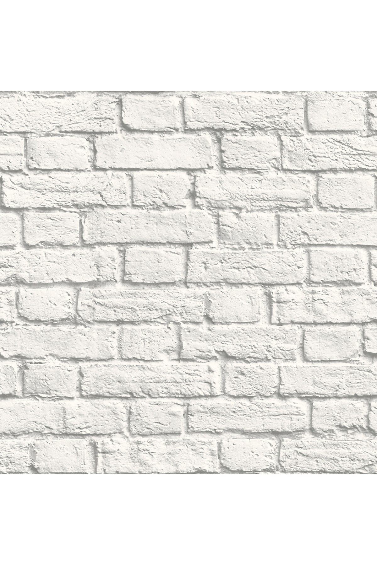 Image of WallPops! Cologne White Painted Brick Wallpaper