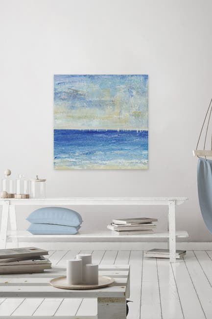 """Image of Marmont Hill Inc. A Perfect Day to Sail I Painting Print on Wrapped Canvas - 32"""" x 32"""""""