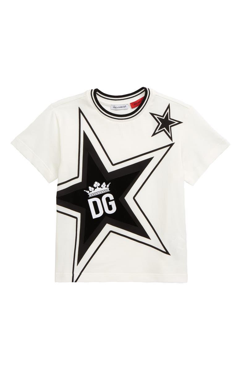 DOLCE&GABBANA Logo T-Shirt, Main, color, 101