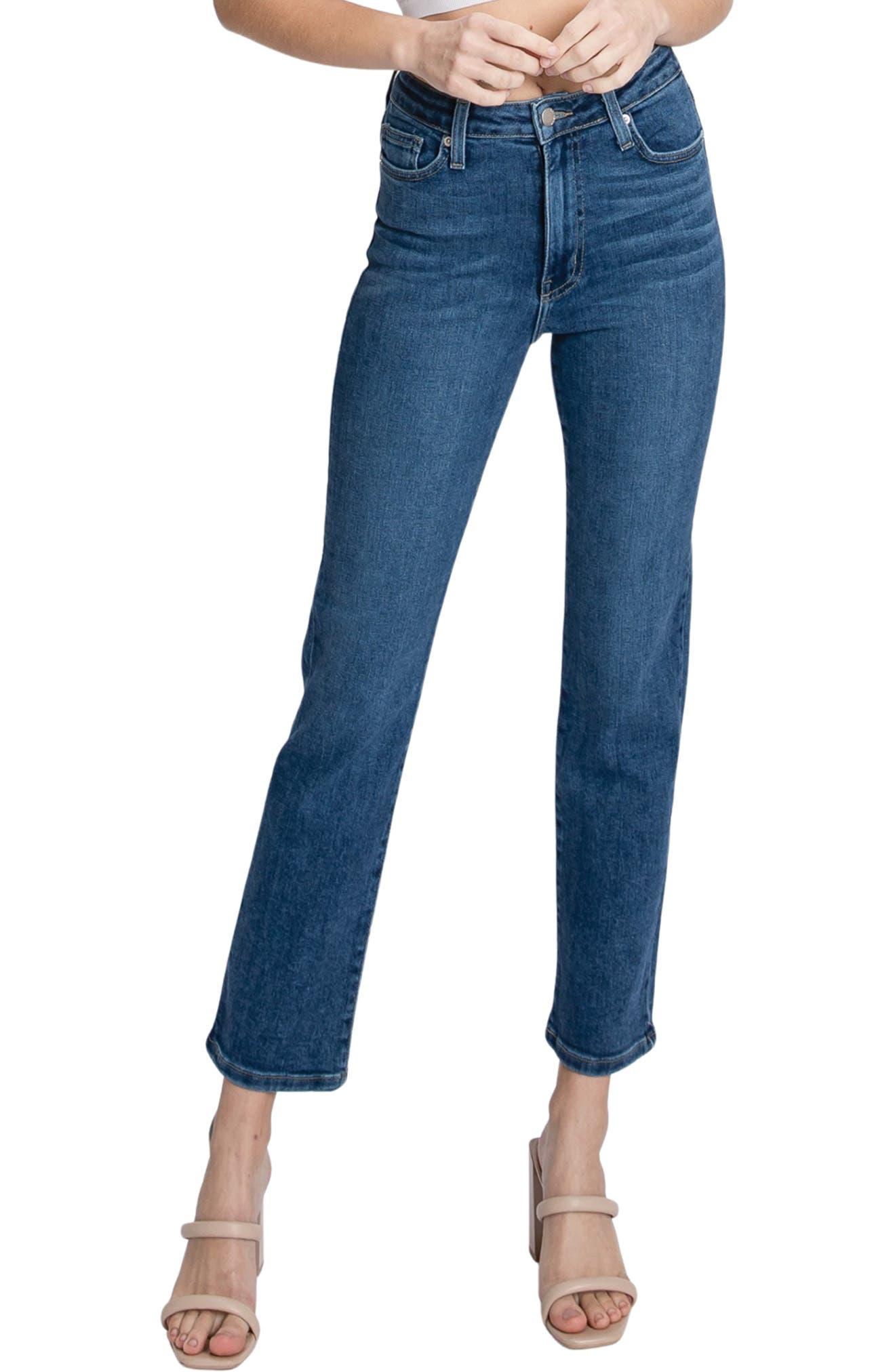 Sienna High Waist Straight Leg Ankle Jeans