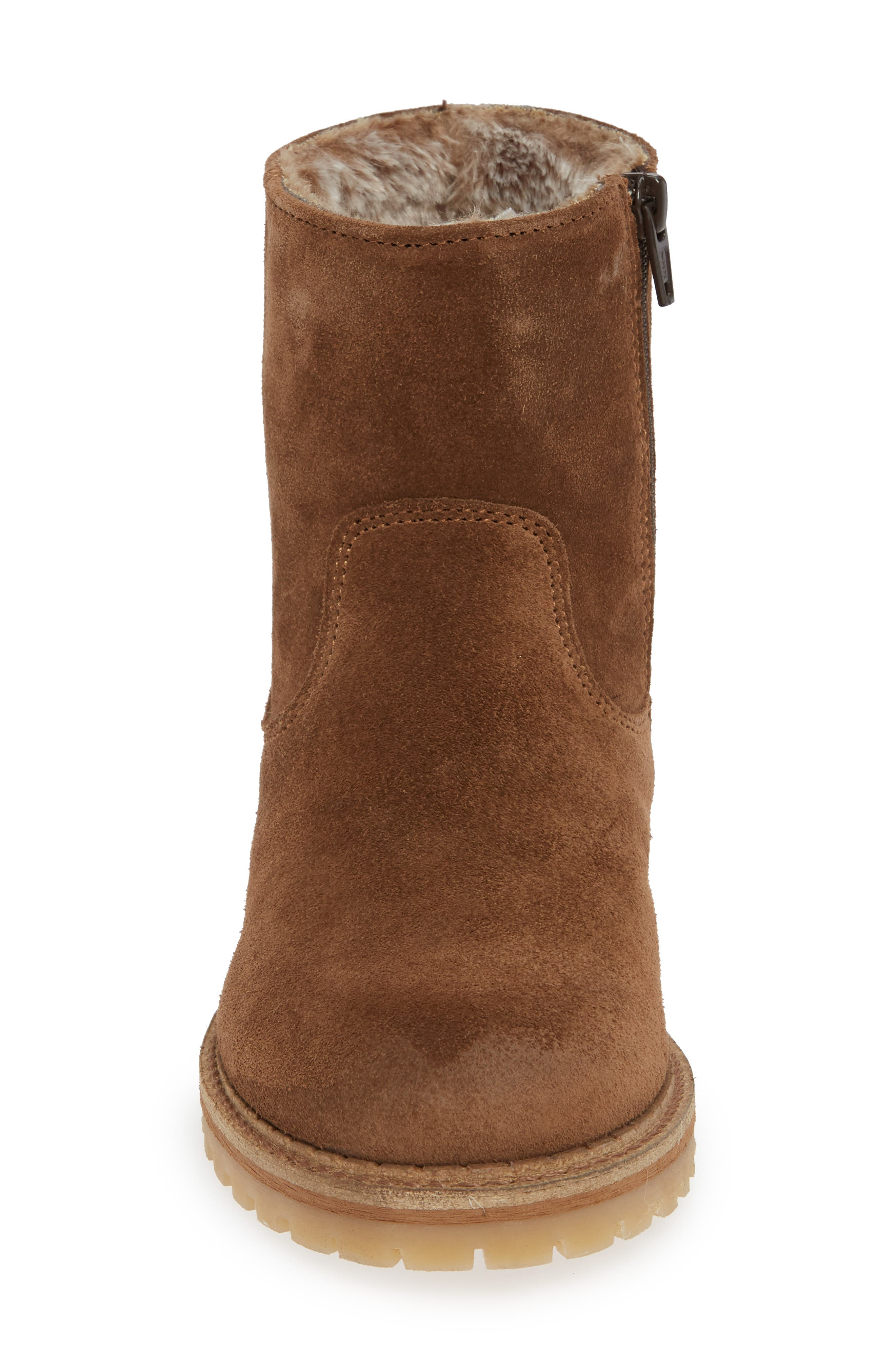 ,                             Host Faux Fur Lined Boot,                             Alternate thumbnail 4, color,                             TAN SUEDE