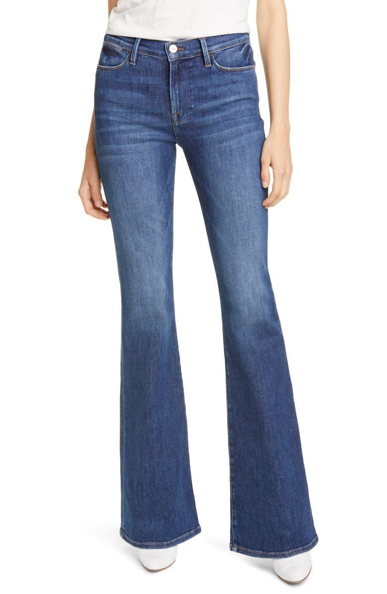 FRAME Le High Flare Jeans, Main, color, BESTIA