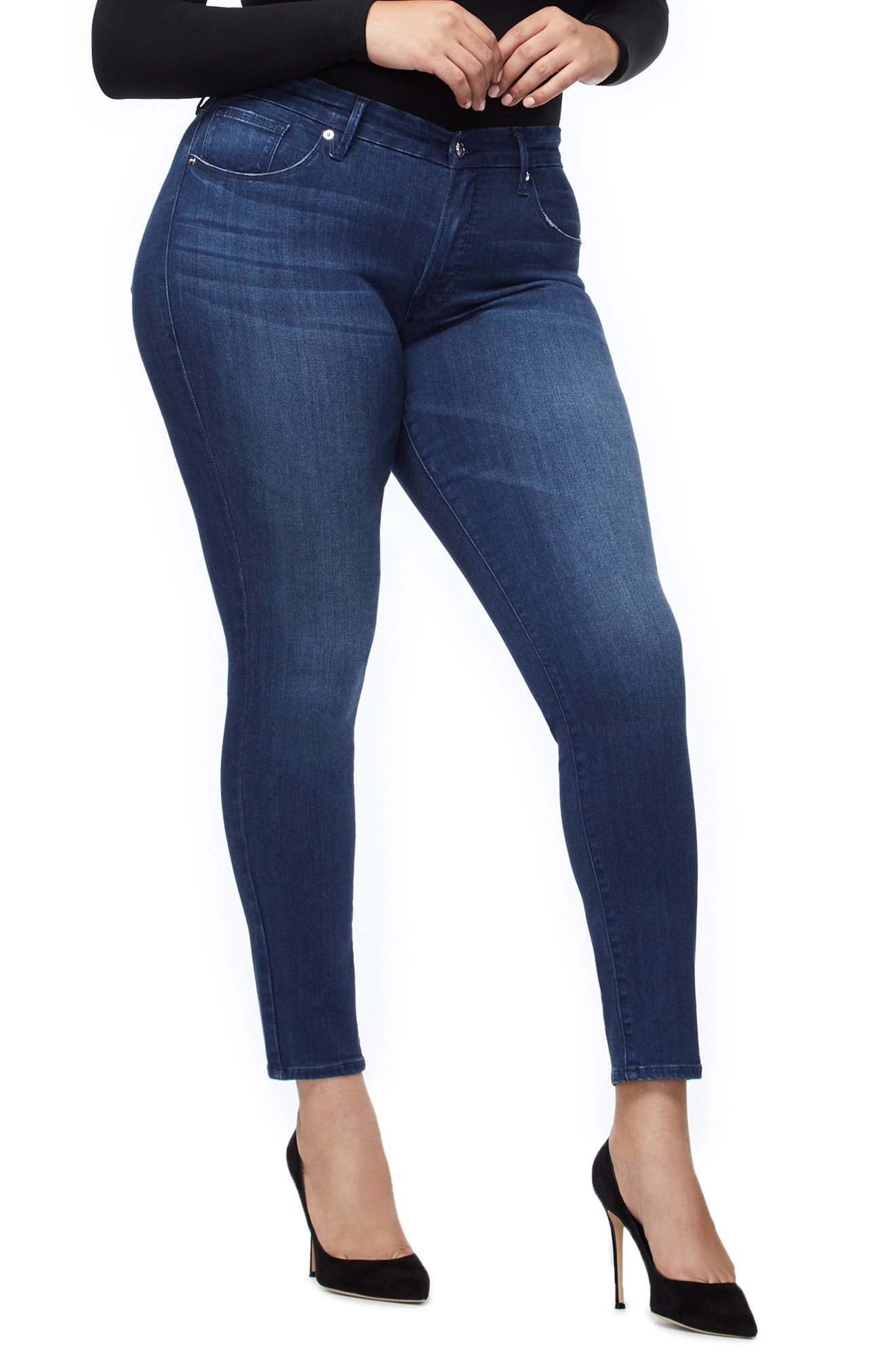 ,                             Good Legs High Waist Skinny Jeans,                             Alternate thumbnail 8, color,                             BLUE211