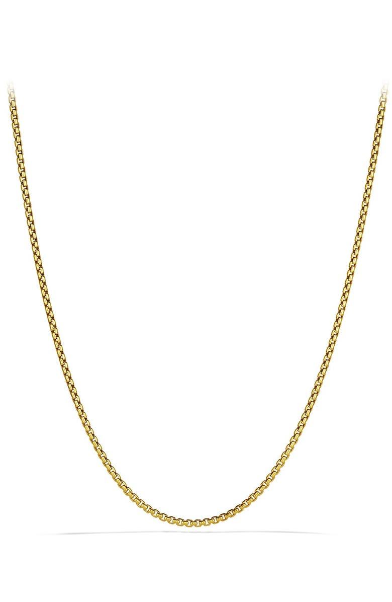DAVID YURMAN 'Chain' Small Box Chain Necklace, Main, color, GOLD