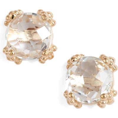 Anzie Dewdrop White Topaz Stud Earrings