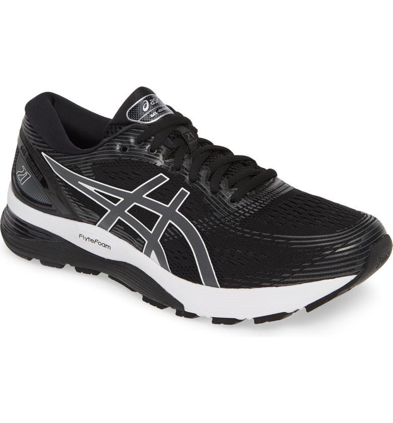 ASICS<SUP>®</SUP> GEL-Nimbus 21 Running Shoe, Main, color, 001