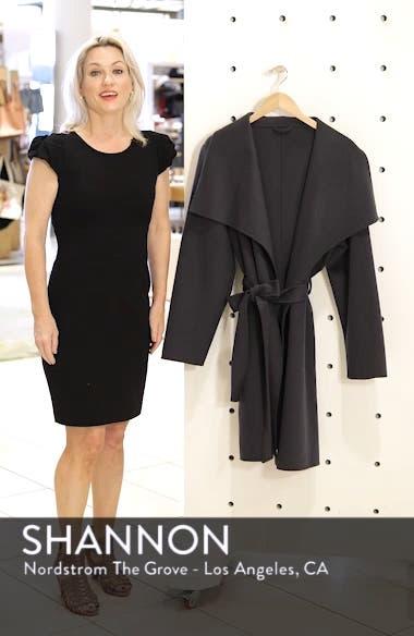Ellie Double Face Wool Blend Wrap Coat, sales video thumbnail