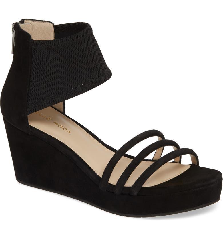 Katrice Platform Wedge Sandal by Pelle Moda