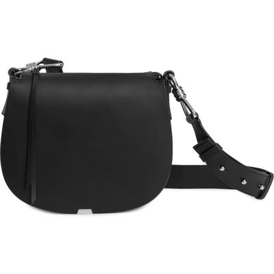 Allsaints Captain Round Leather Crossbody Bag -